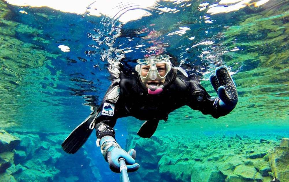 Kết quả hình ảnh cho snorkeling in Iceland