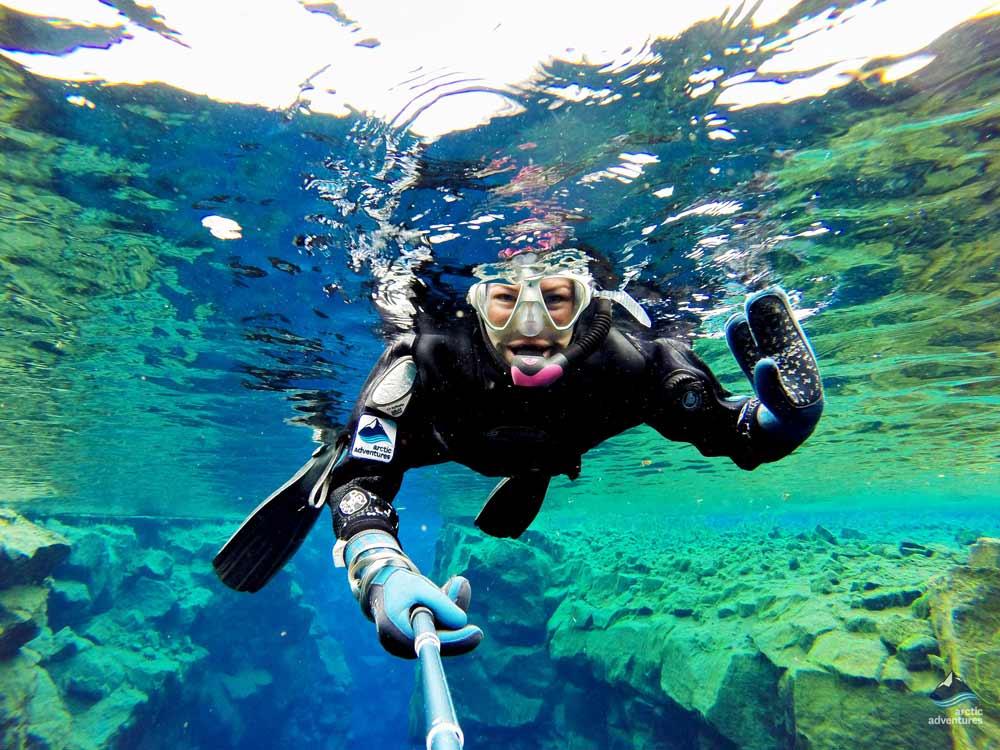 Snorkeling in Silfra