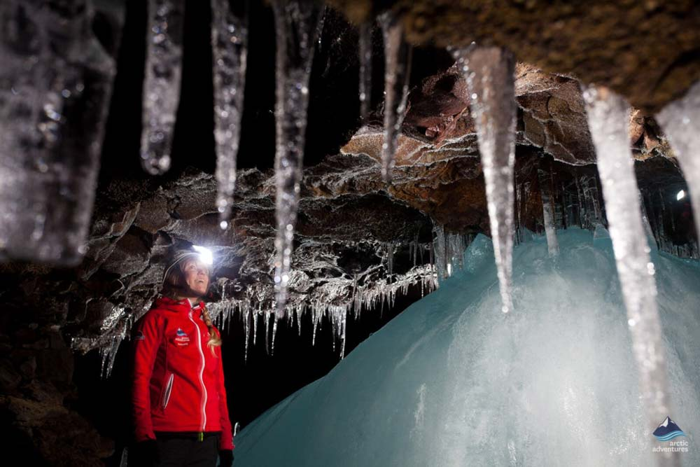 Icicles in the cave