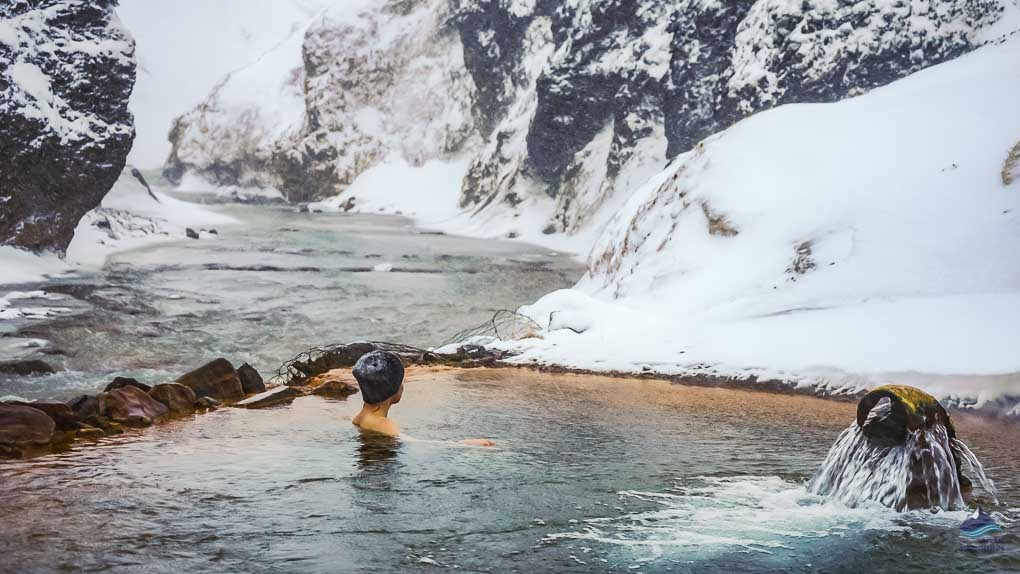 Enjoying the hot spring in Kerlingarfjöll