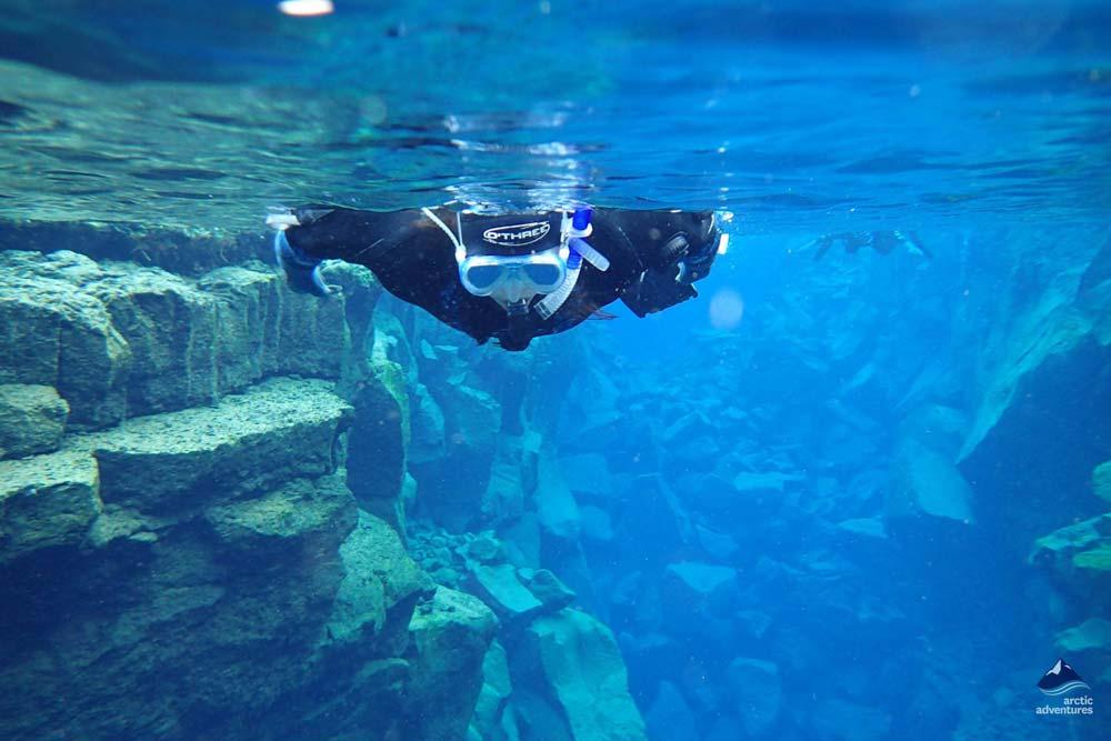 Snorkeling In Silfra Fissure Iceland Dive Silfra Dive