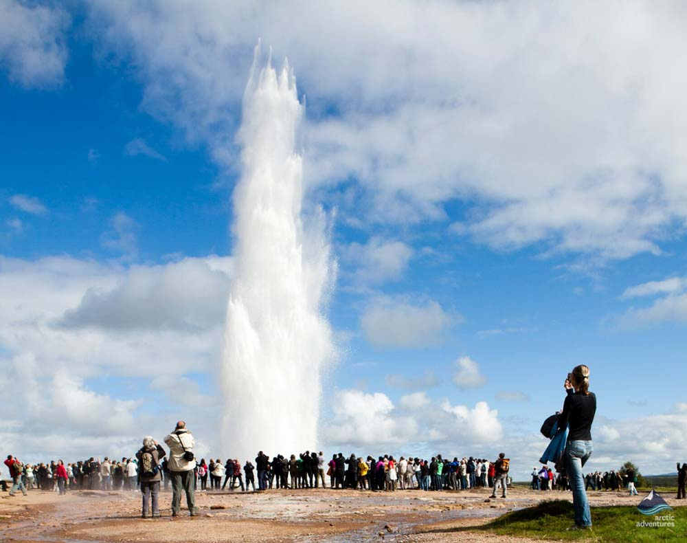 Geysir shooting out on Golden Circle