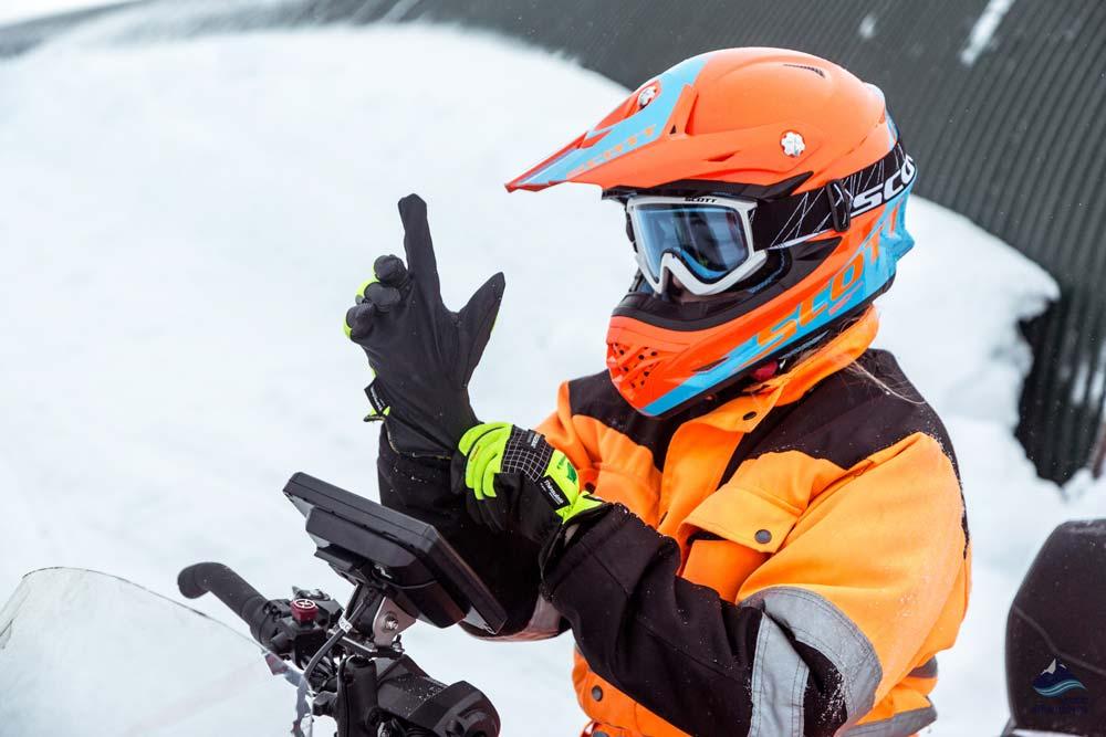 Preparing equipment for snowmobiling