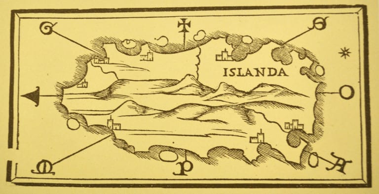 Primal map of Iceland