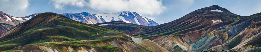 mountain view of landmannalaugar