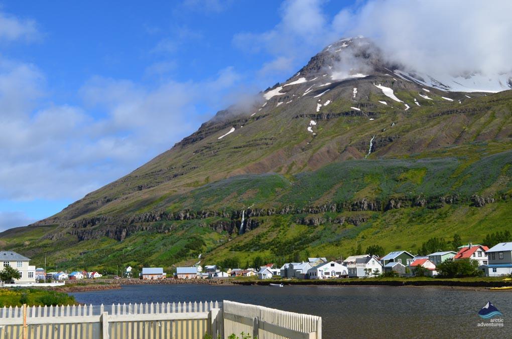 Seyðisfjörður view down the fjord