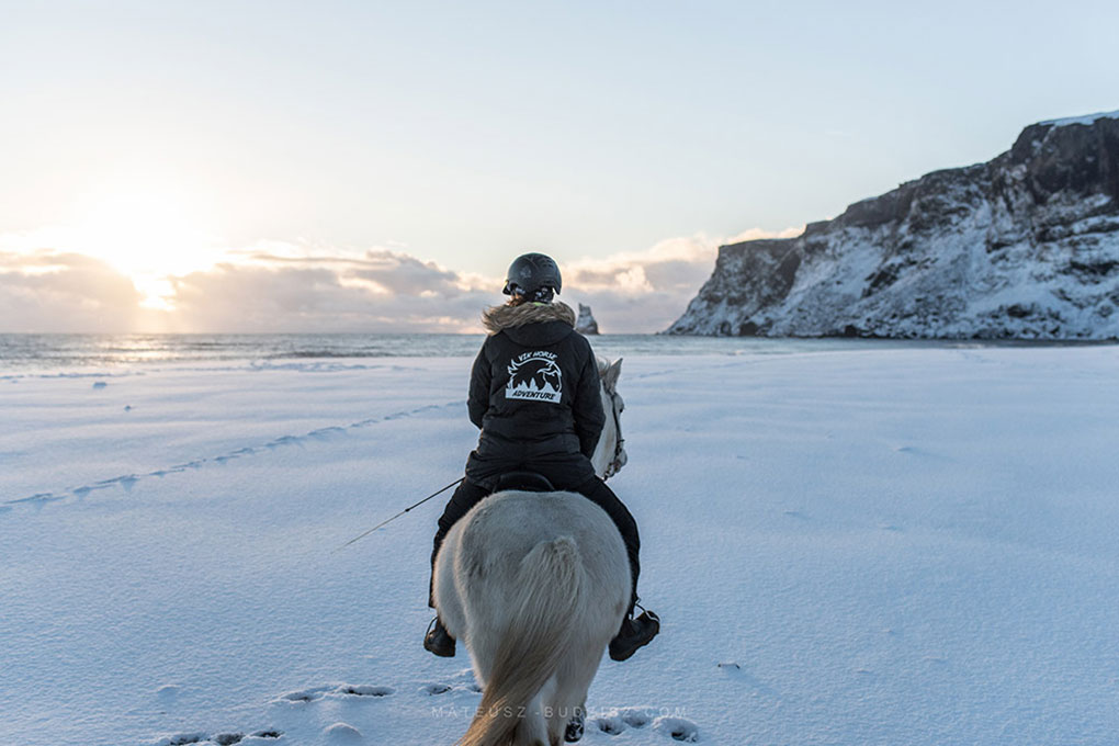 horse riding iceland winter