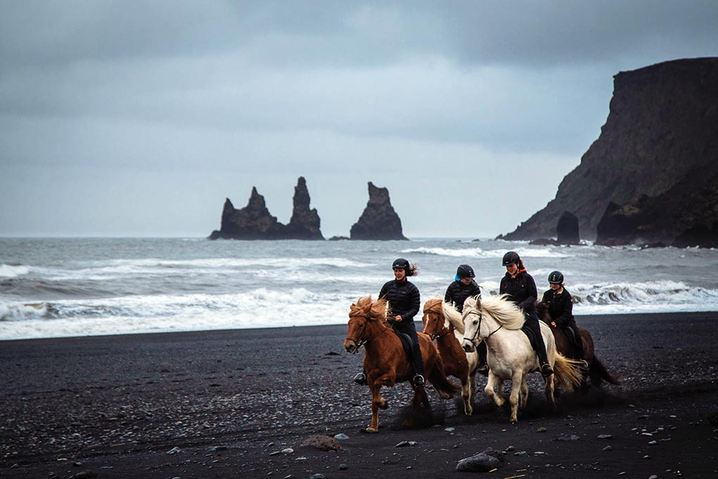 black sand beach adventure