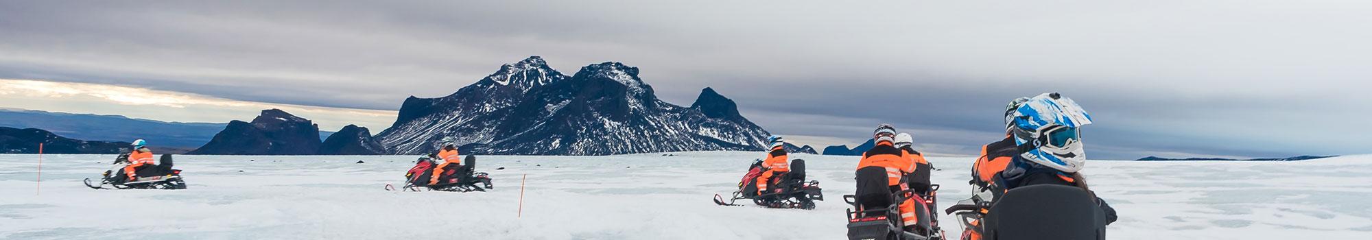 fun ride on the glacier