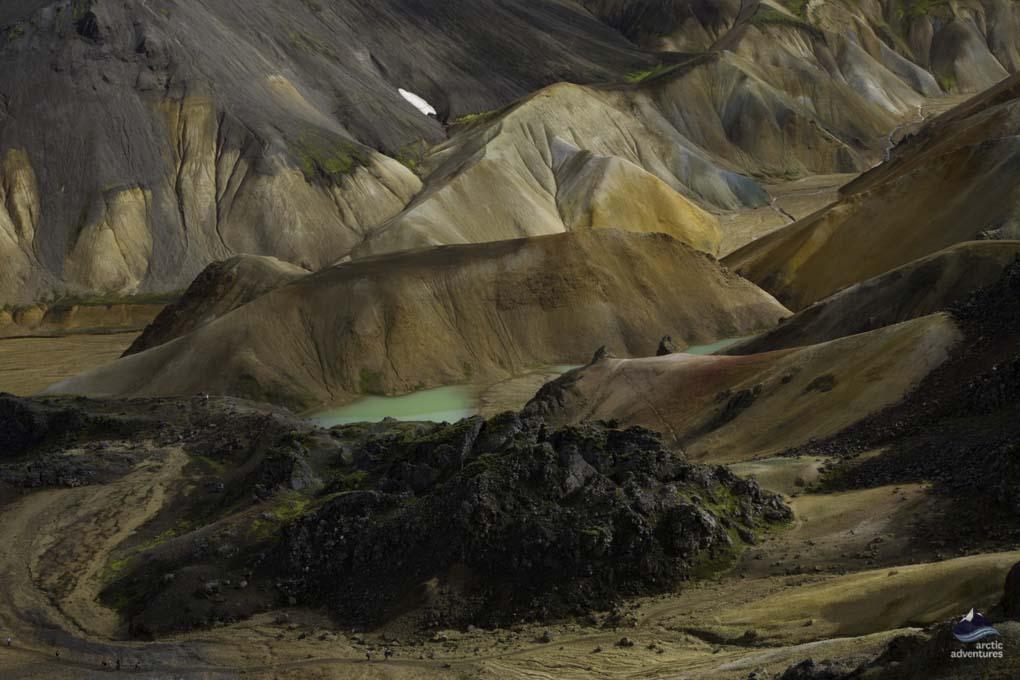 view of landmannalugar mountains