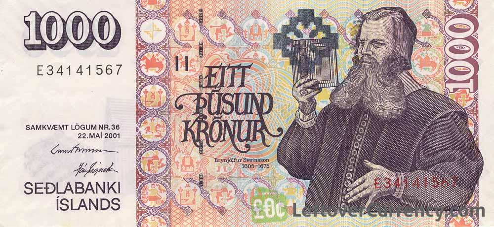 1000 ISK krónur
