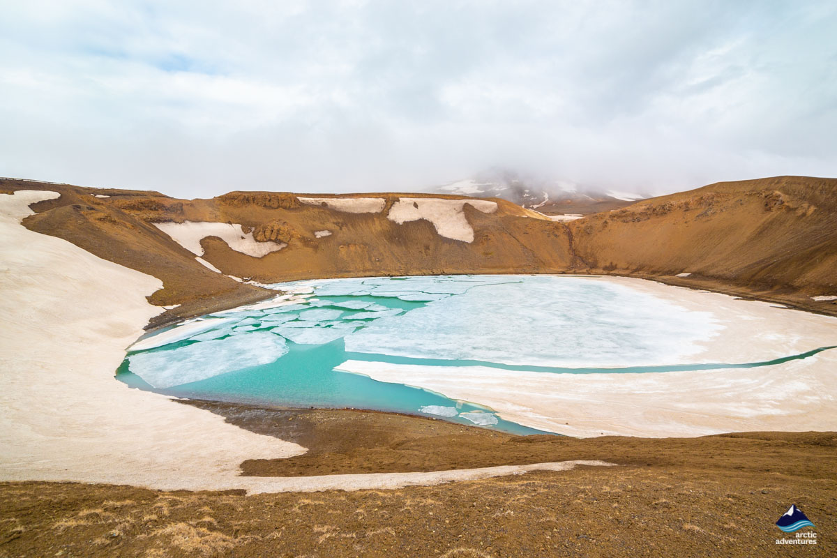 冰岛北部荒芜的地热区