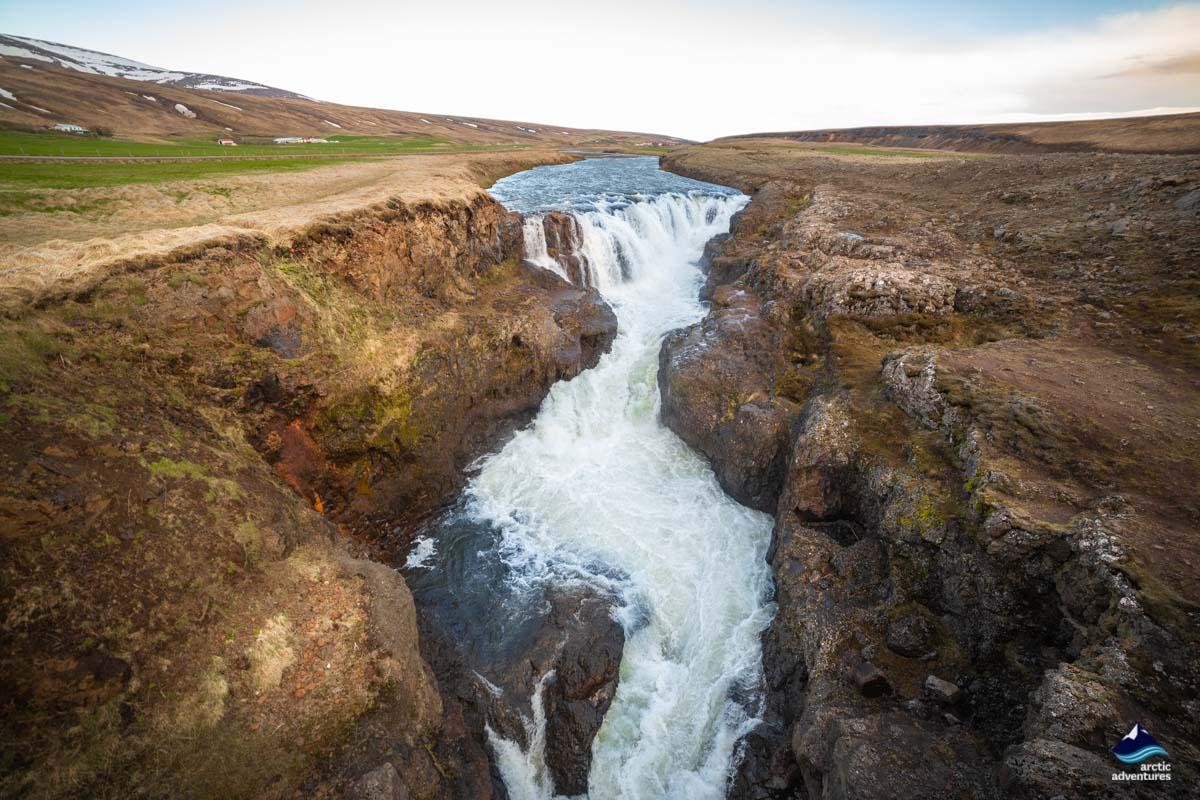 北部小众瀑布Kolugljufur
