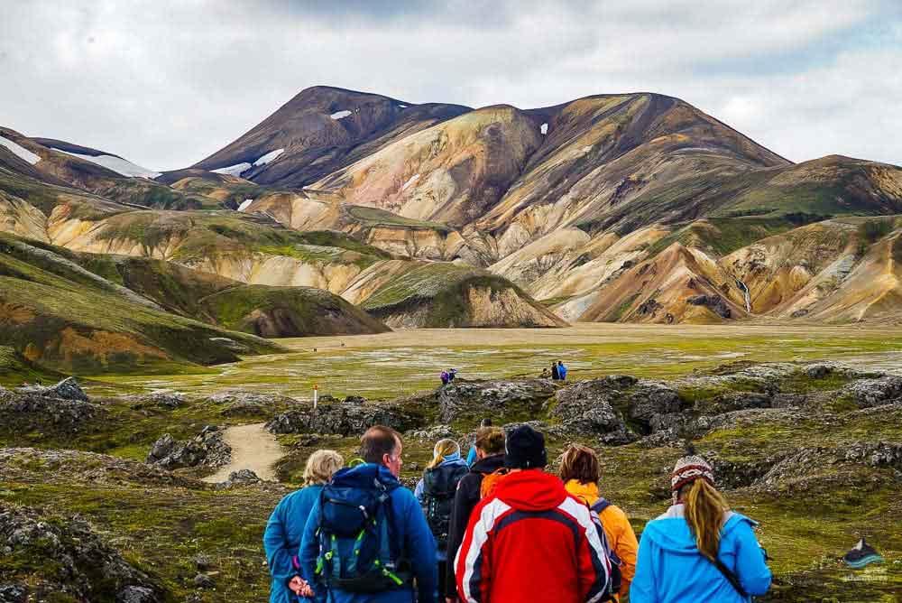 登山者在兰德曼劳卡远足