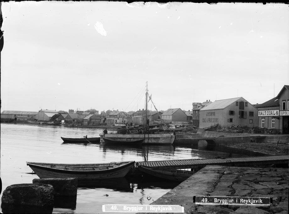 Reykjavik harbor early 19th century