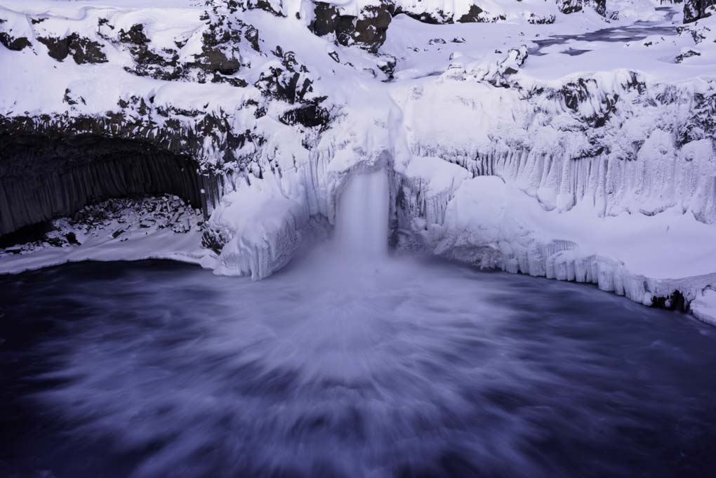 Aldeyjarfoss in its winter coat