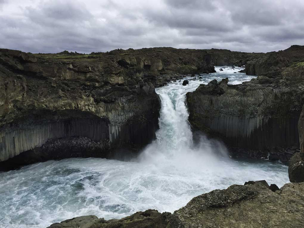 Aldeyjarfoss waterfall in the Icelandic highlands