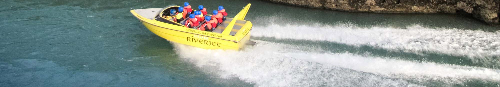 riverjet boat gliding over water
