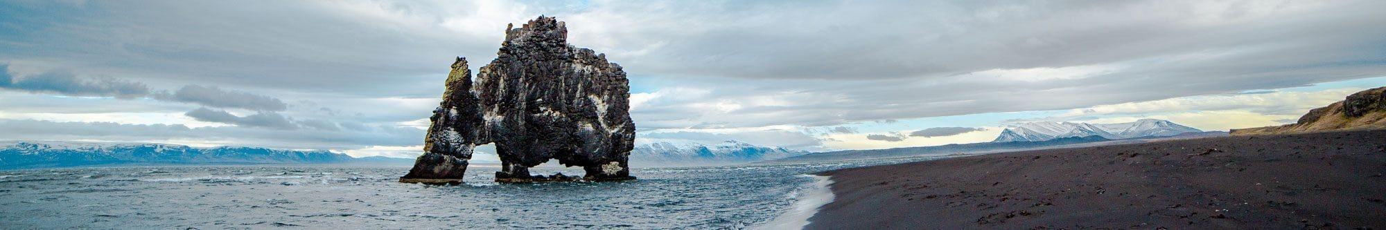 冰岛北部犀牛石
