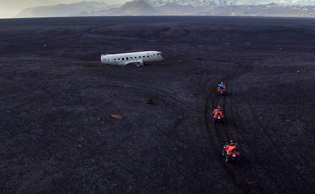 ATV Plane Wreck – Black Sand Beach tour