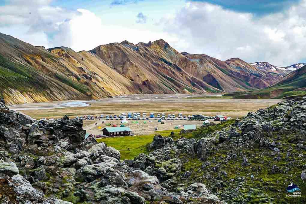 Landmannalaugar camping in Iceland