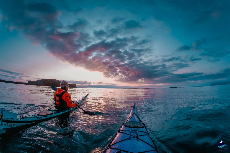 Kayak in Iceland