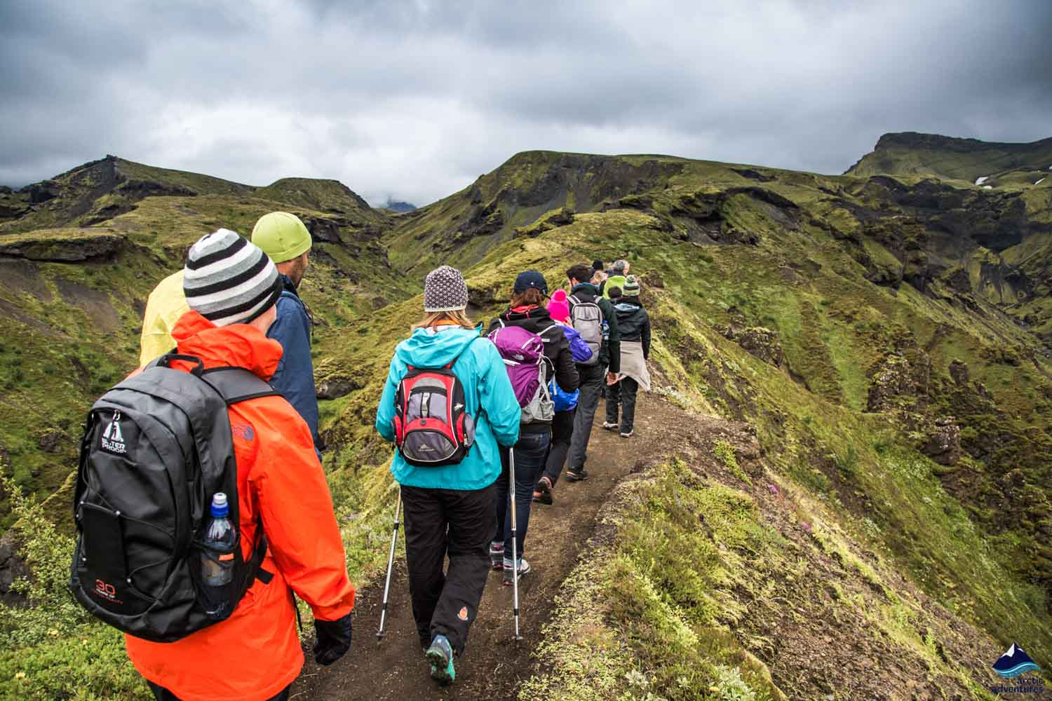 Thorsmork day hike in Iceland