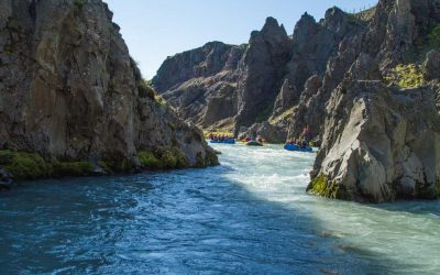 Family rafting in West Iceland