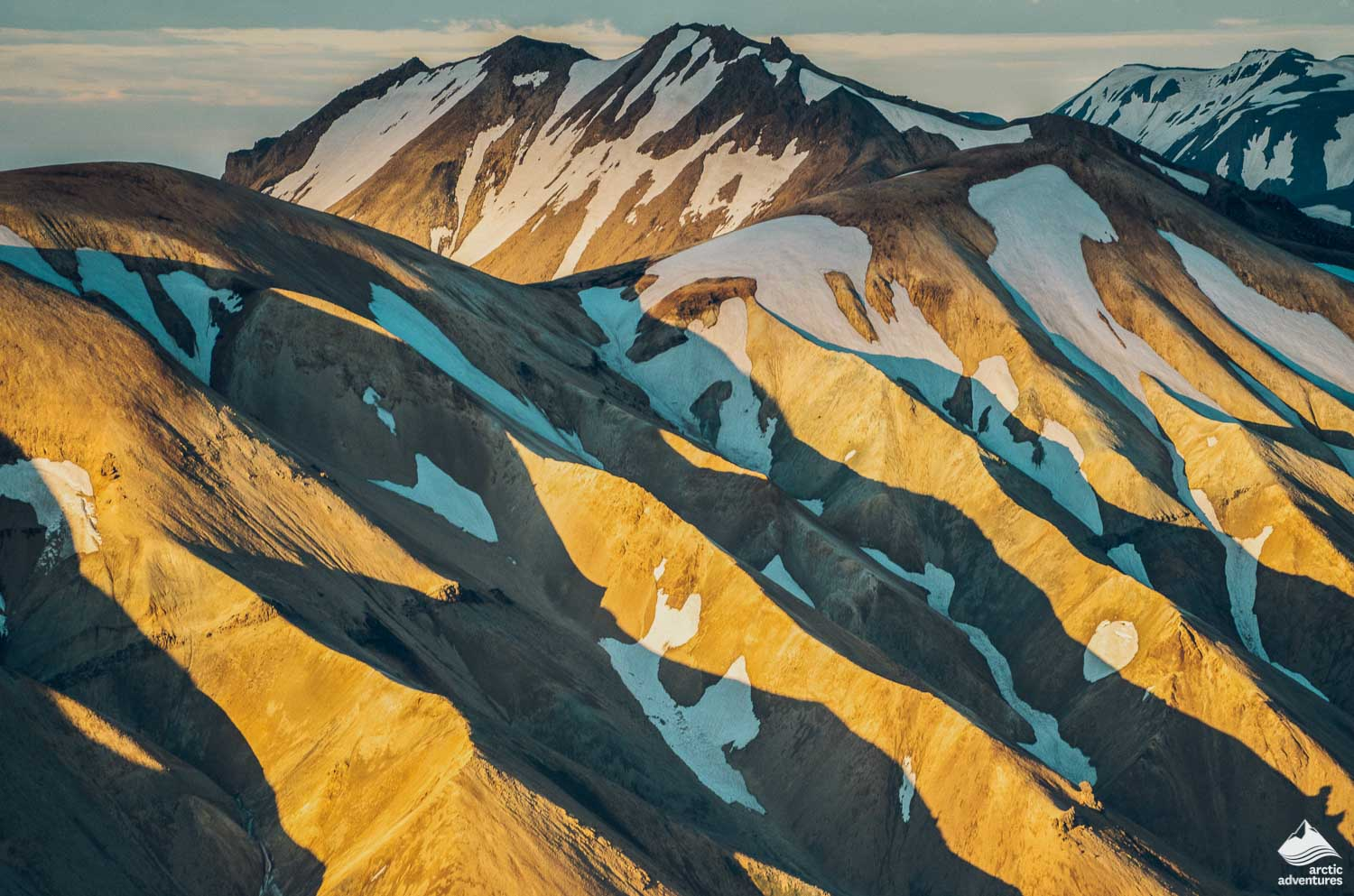 Landmannalaugar trek at sunrise