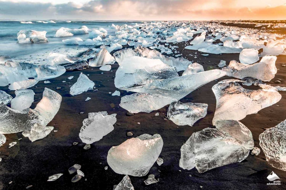 south coast iceland jokulsarlon diamond beach