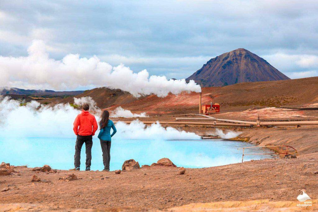 Couple near Namafjall geothermal area