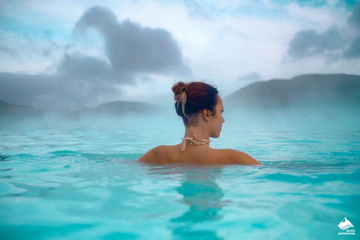 Woman enjoys spa in Hot Springs