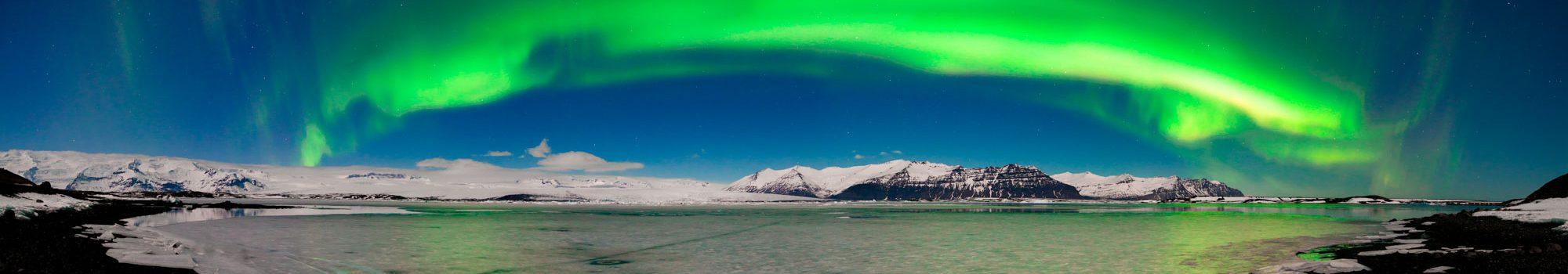 Aurora Borealis panoramic view