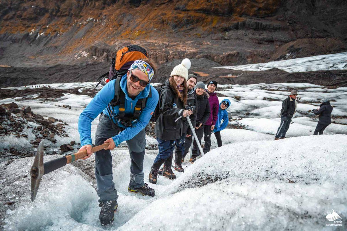 Glacier hiking in Falljokull