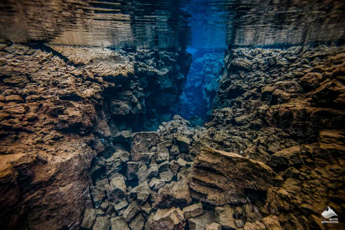 Snorkeling in Silfra between two continents