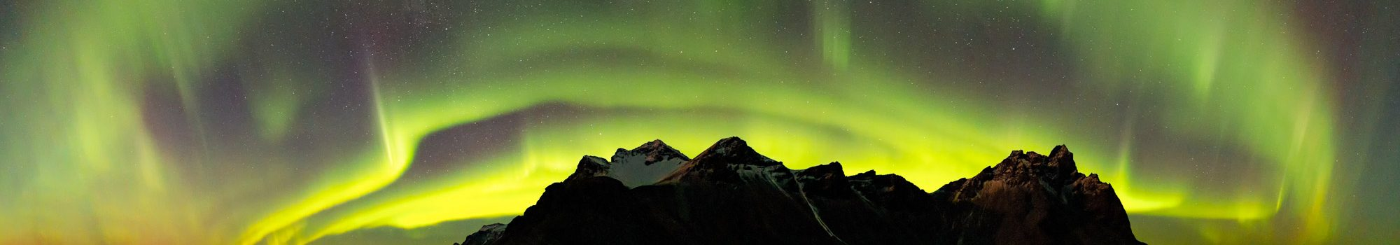 Northern Lights over Vestrahorn Mountain