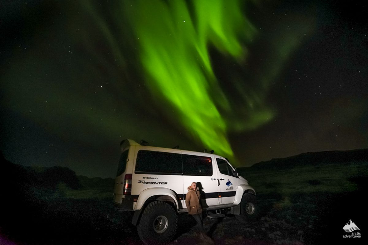 Northern Lights on a Super Jeep tour