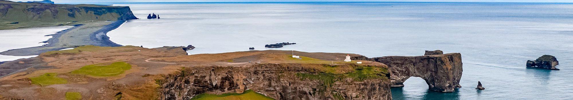Iceland cape Dyrholaey Sudurland