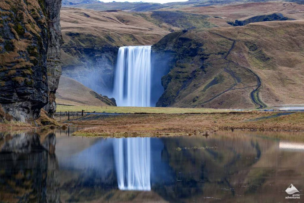 Skogafoss Watergall on the South Coast of Iceland