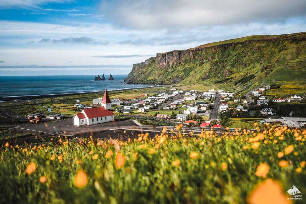 Beautiful town of Vik-i-Myrdal