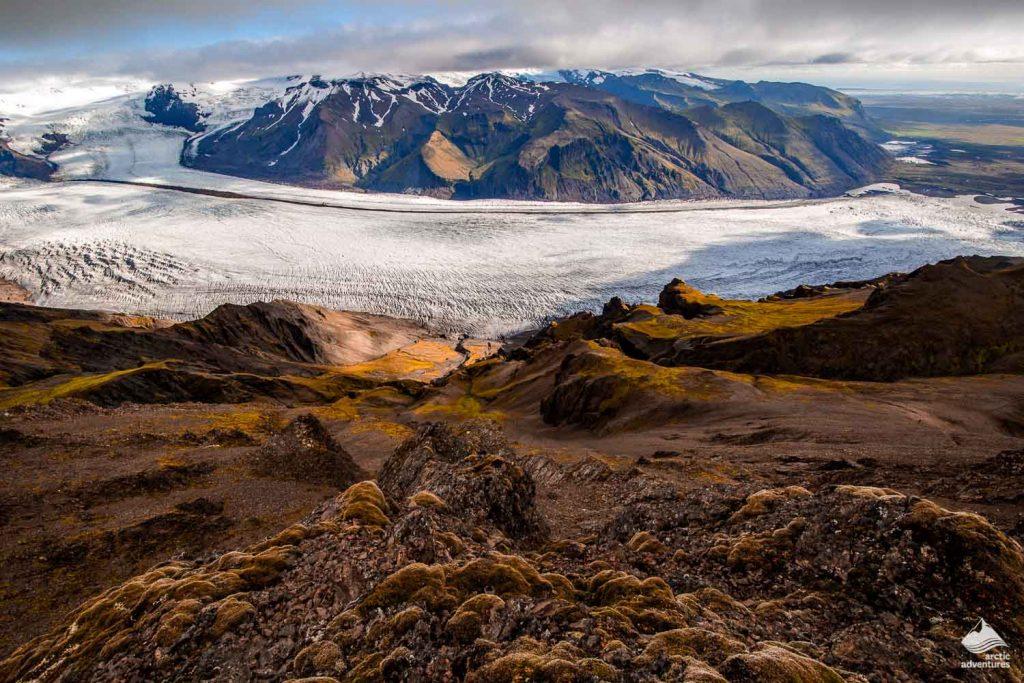 Skaftafellsjokull glacier in Vatnajokull national park