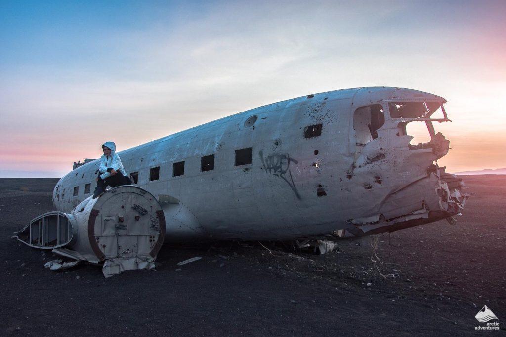 Plane wreck on Solheimasandur beach in Iceland