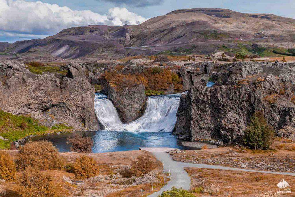 Hjalparfoss waterfall