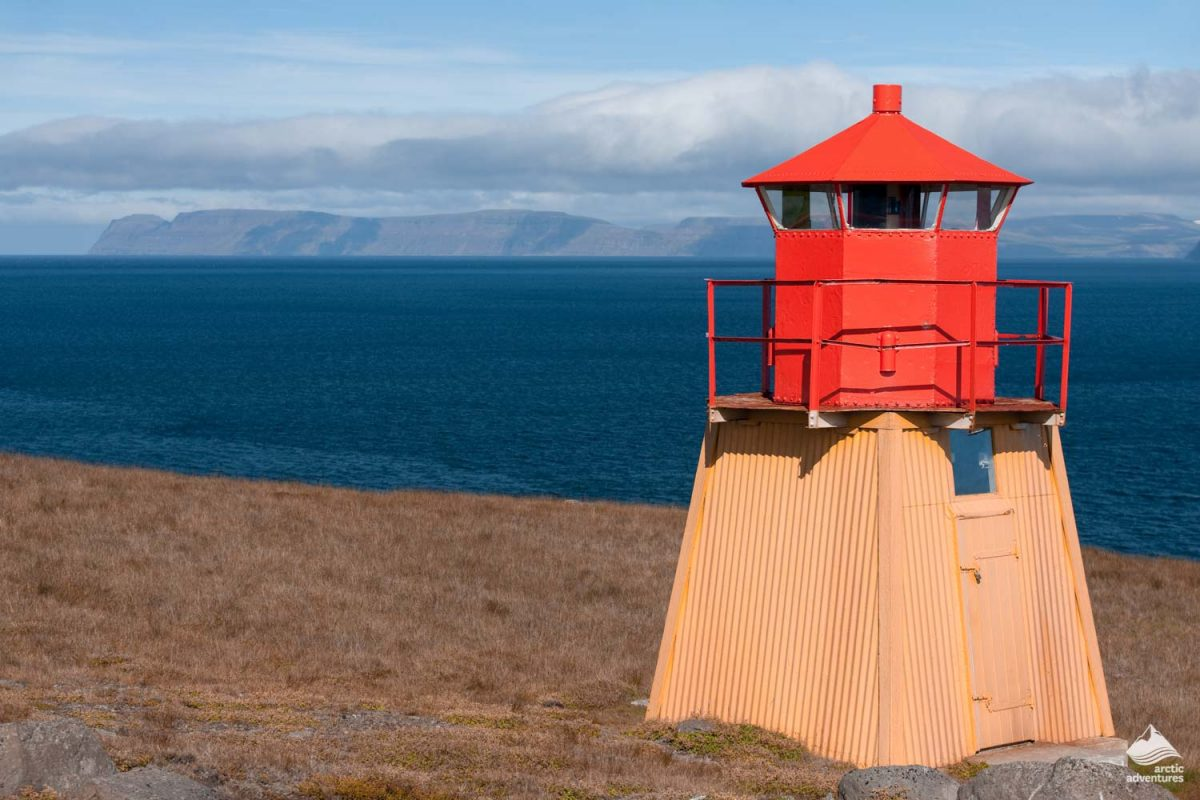 Small Red Lighthouse in iceland