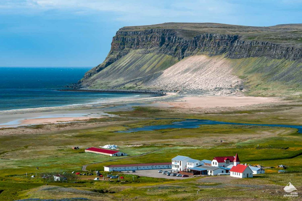 Breidavik village in Iceland