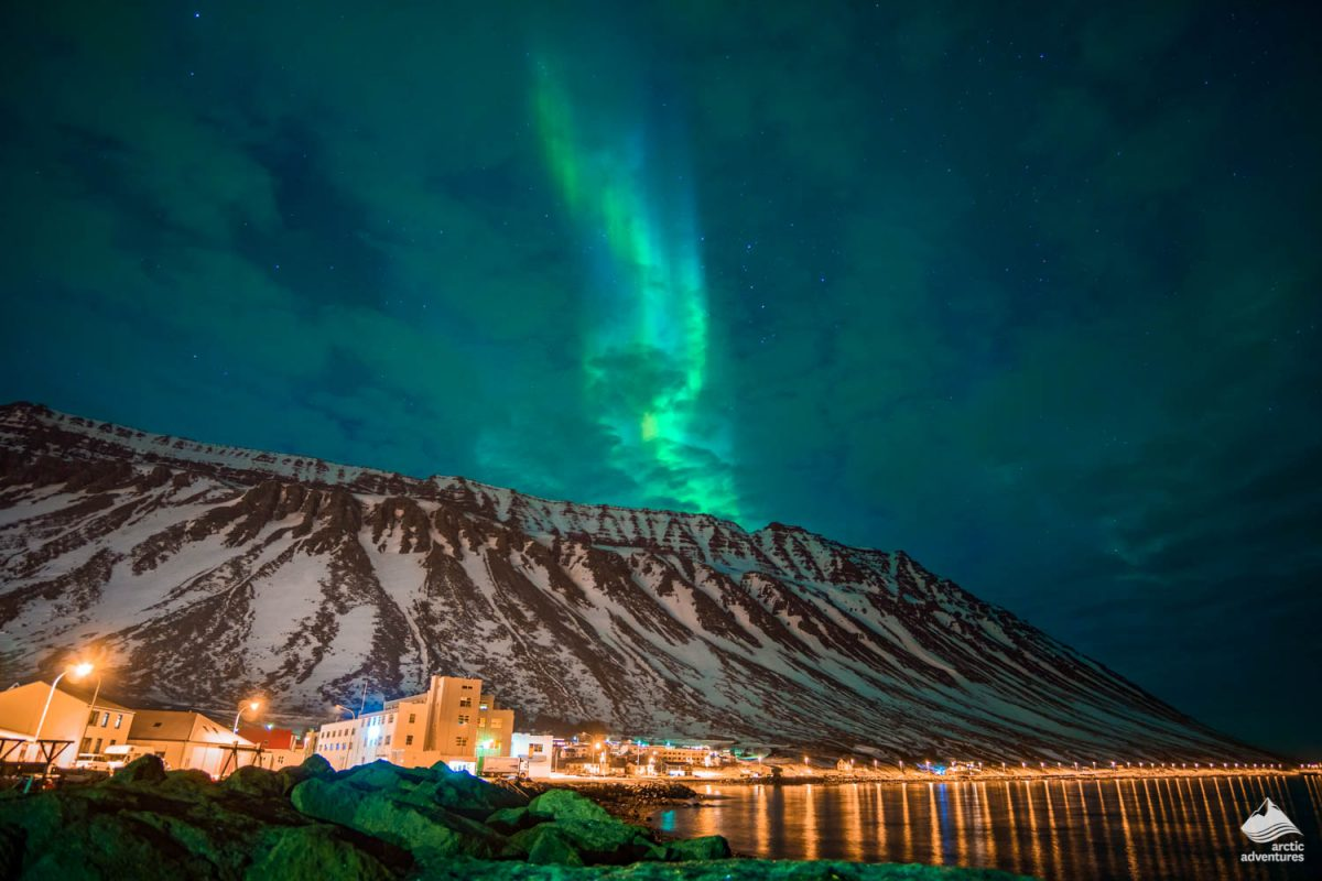 Northern Lights above Naustahvilft Valley
