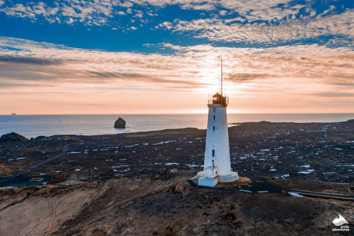 Reykjanesviti lighthouse on Reykjanes peninsula