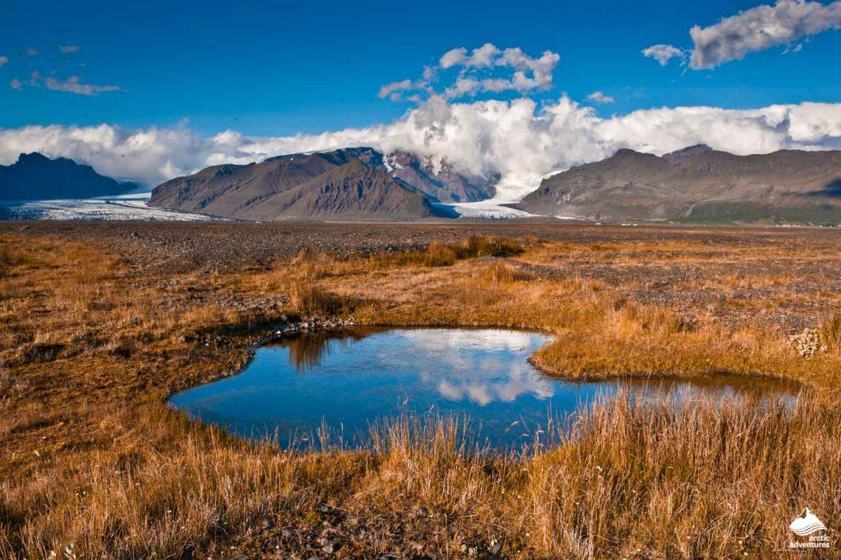 Skaftafellsjokull glacier in Skaftafell