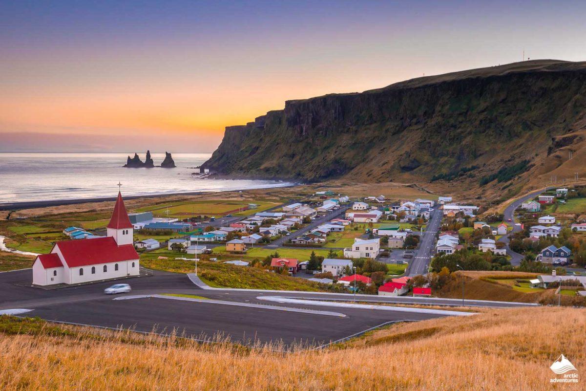 Sunset in Vik Iceland