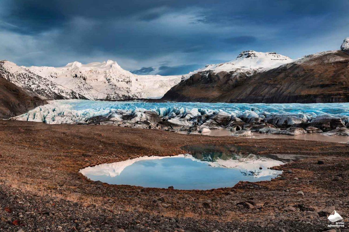 Svinafellsjokull outlet glacier